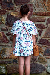 Butterfly Sleeve Printed Dress