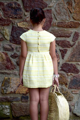 Short Sleeve Jacquard Dress