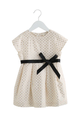 Short Sleeve Dress with Grossgrain Tape