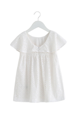 Butterfly Sleeve Eyelet Dress