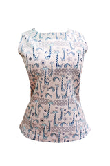 Giraffe Embroidered Shell Top - Adult