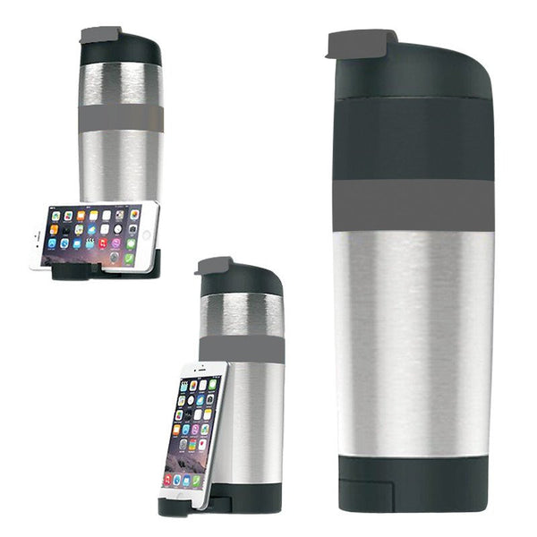 Tumbler with Handphone Stand