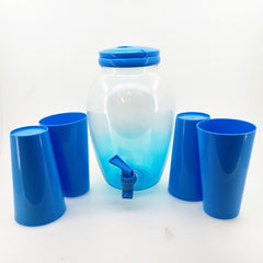 Water Bottle Jar with 4 Cup