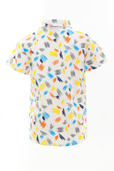 Kids-Printed Summer Sleeve Mini Shirt