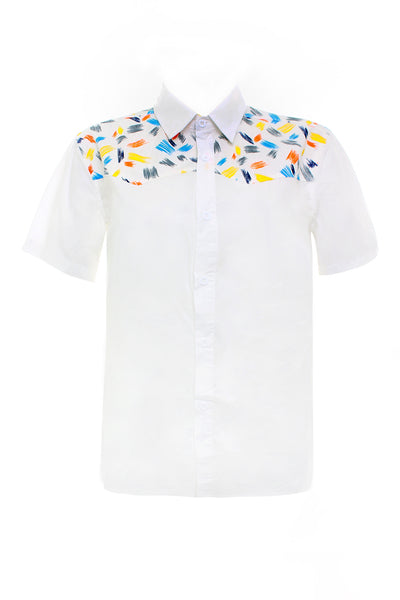 Adult-Printed Summer Sleeve Shirt