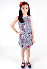 Kids-Dreamlike Polka Dot Printed Dress (Sample Piece)