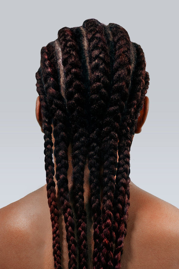 braid better by Rebundle plant-based braiding hair in brown