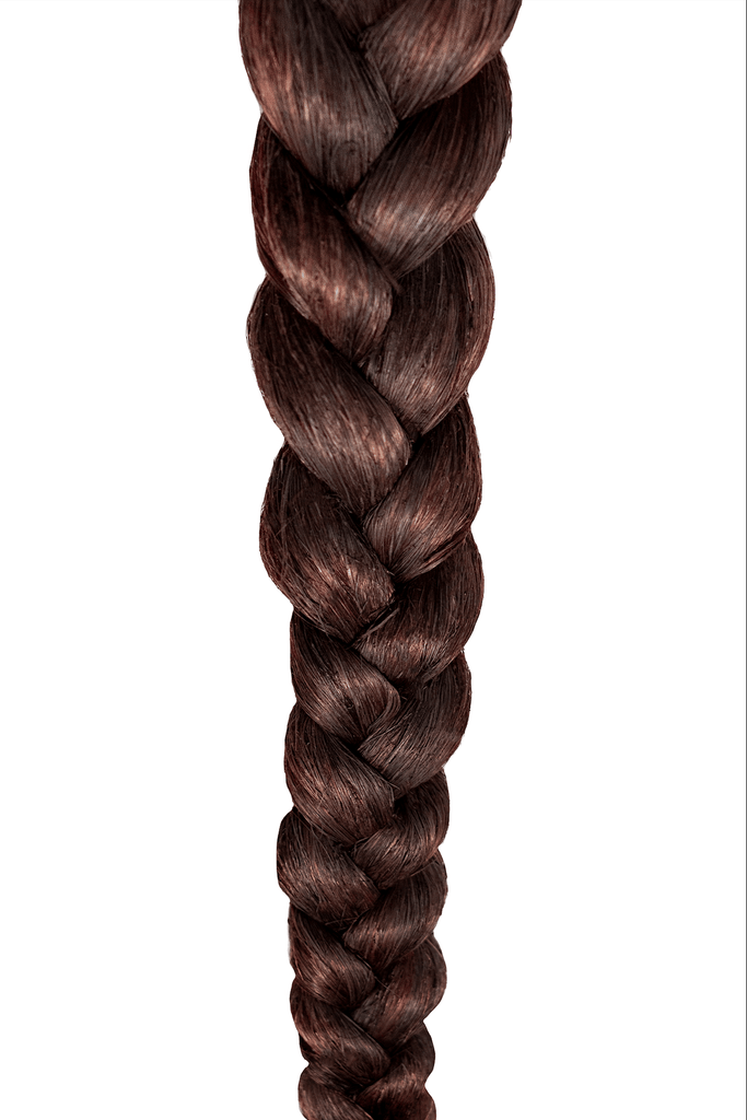 braid better by Rebundle plant-based braiding hair braid in brown closeup