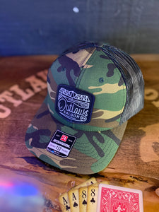Outlaws Trucker Hat - Camo - Square Logo