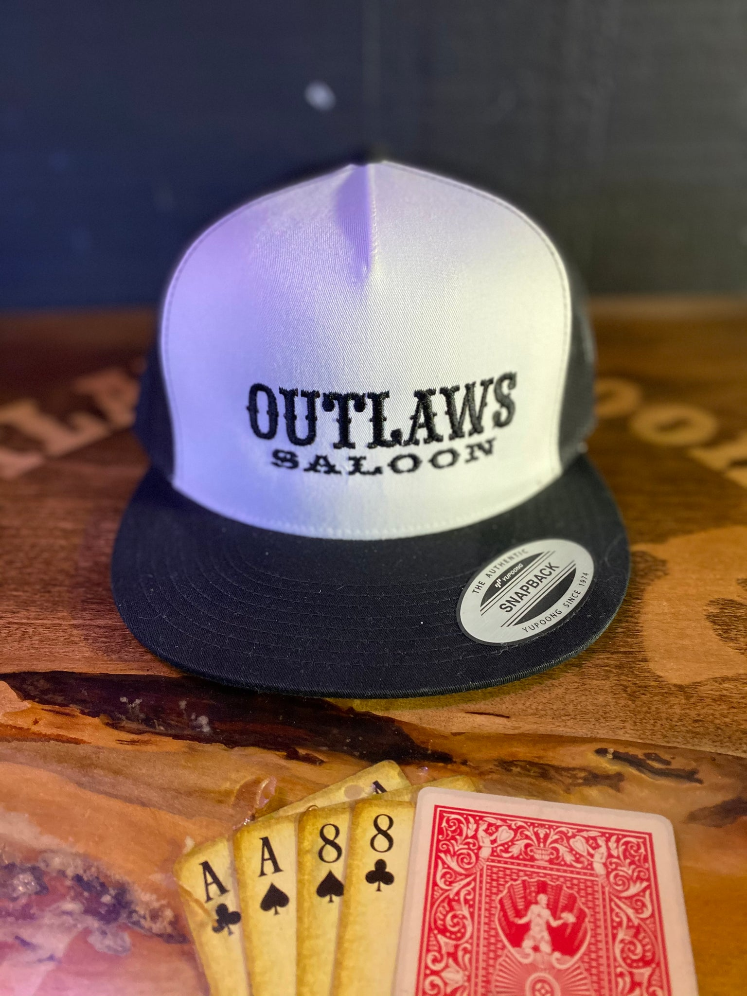 Outlaws Trucker Hat - Black/White- Text Logo