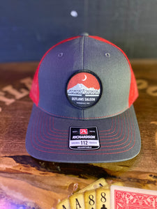 Outlaws Trucker Hat - Red/Grey - Circle Logo