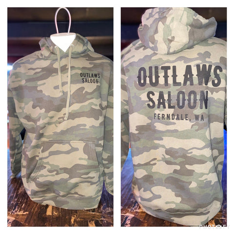Outlaws Camo Pullover Hoodie