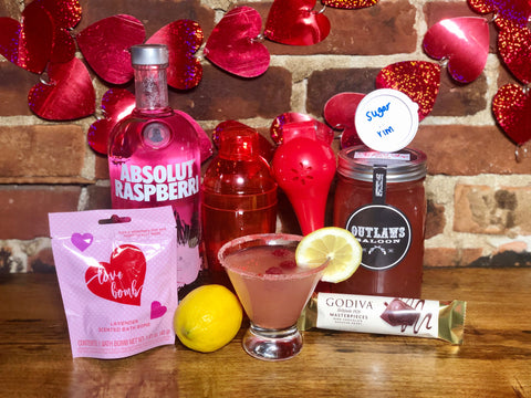 Raspberry Lemon Drop Boozy Basket