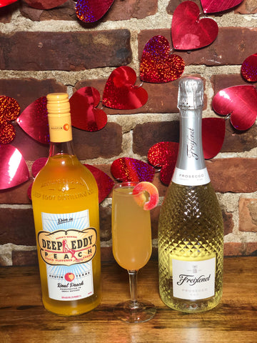 """You're a Peach"" Bellini Boozy Basket"
