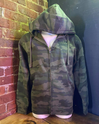 Outlaws Camo Zip Up Hoodie