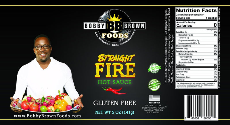 Bobby's Straight FIRE Hot Sauce (2)