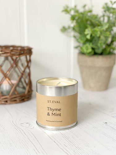 193-STE Thyme & Mint Tin Candle