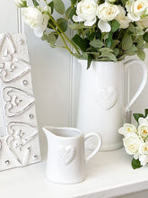 Load image into Gallery viewer, White embossed milk jug