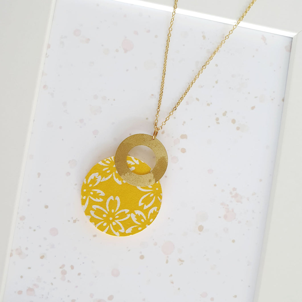 B Circle and B Donut Necklace