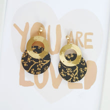 Load image into Gallery viewer, M Circle and Big Donut Earrings