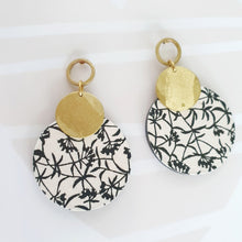 Load image into Gallery viewer, M Circle Earrings