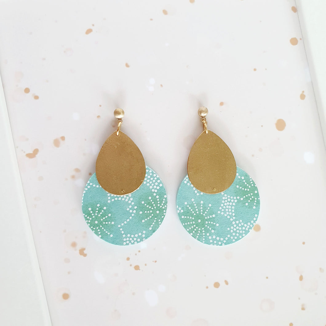 M Circle and Drop Earrings