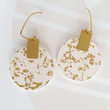 Load image into Gallery viewer, M Circle Dangle Earrings