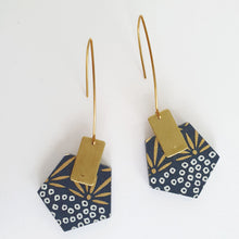 Load image into Gallery viewer, Pentagon Dangle Earrings