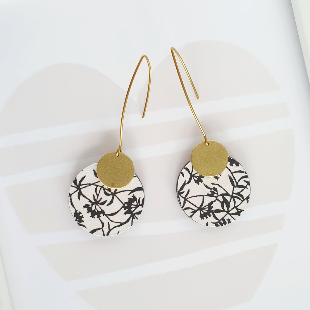 S Circle Dangle Earrings