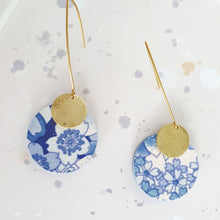 Load image into Gallery viewer, S Circle Dangle Earrings