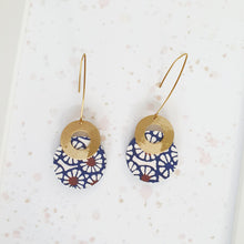 Load image into Gallery viewer, S Circle and Donut Earrings