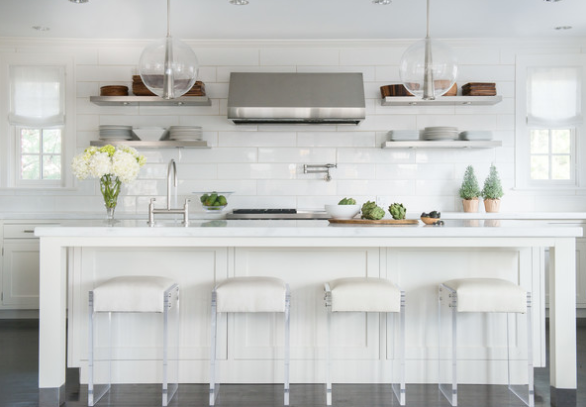 How to style open kitchen shelving