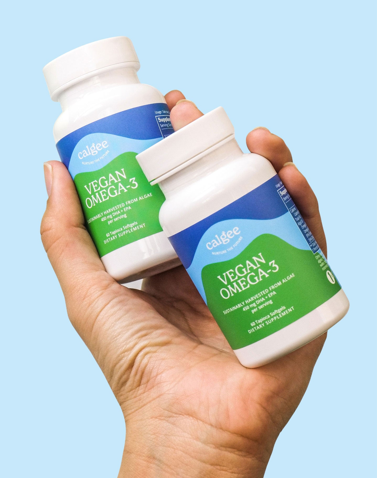 Vegan Omega 3 Supplement Bottle