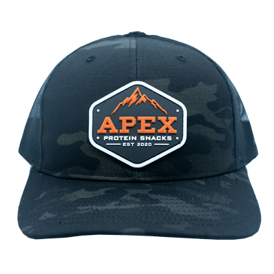 Orange Apex PVC Patch Hat- Front