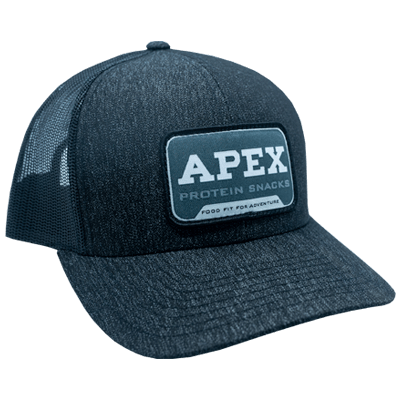 Black Pacific Apex Grey Patch Hat -side