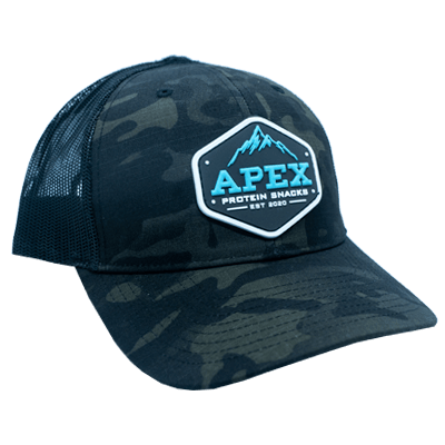 Blue Apex PVC Patch Hat - Side