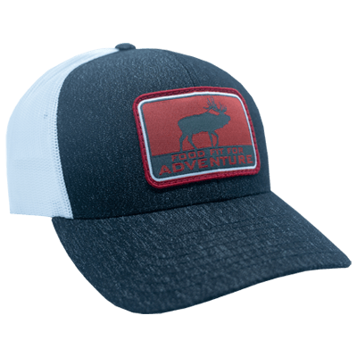 Grey Pacific Red Food Fit For Adventure Patch Hat - Side