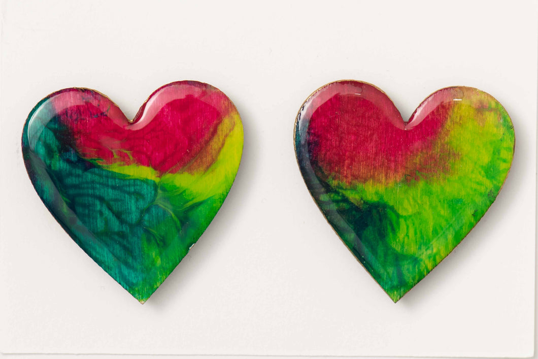 Large Heart Pair Magnets 1039