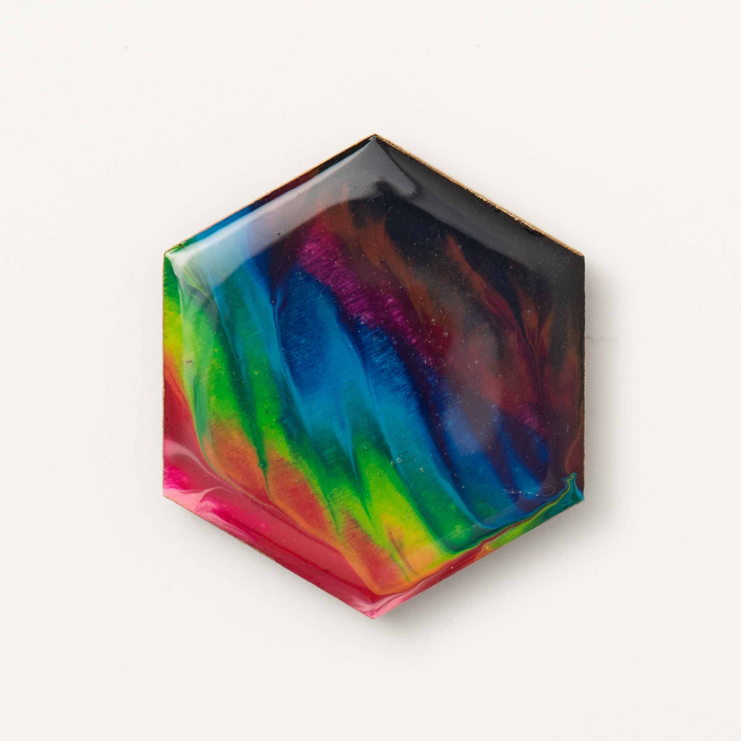 Large Hexagon Rainbow Magnet 1103