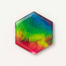 Load image into Gallery viewer, Large Rainbow Hexagon Magnet 1110