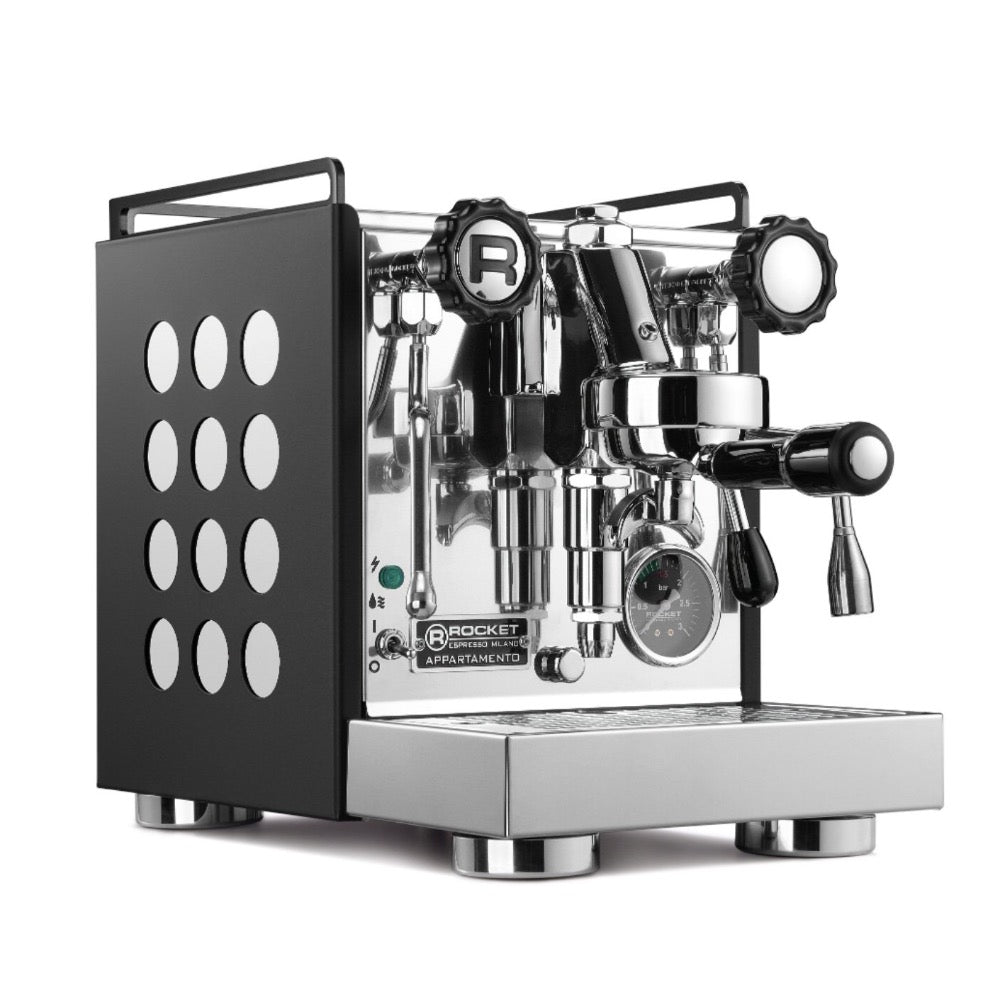 Rocket appartamento espresso machine in stock - black finish