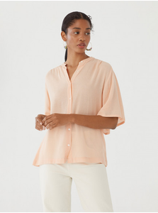Check textured viscose shirt