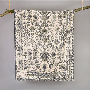Kittisford Vintage Printed Grey Rug - The Tulip Tree Chiddingstone