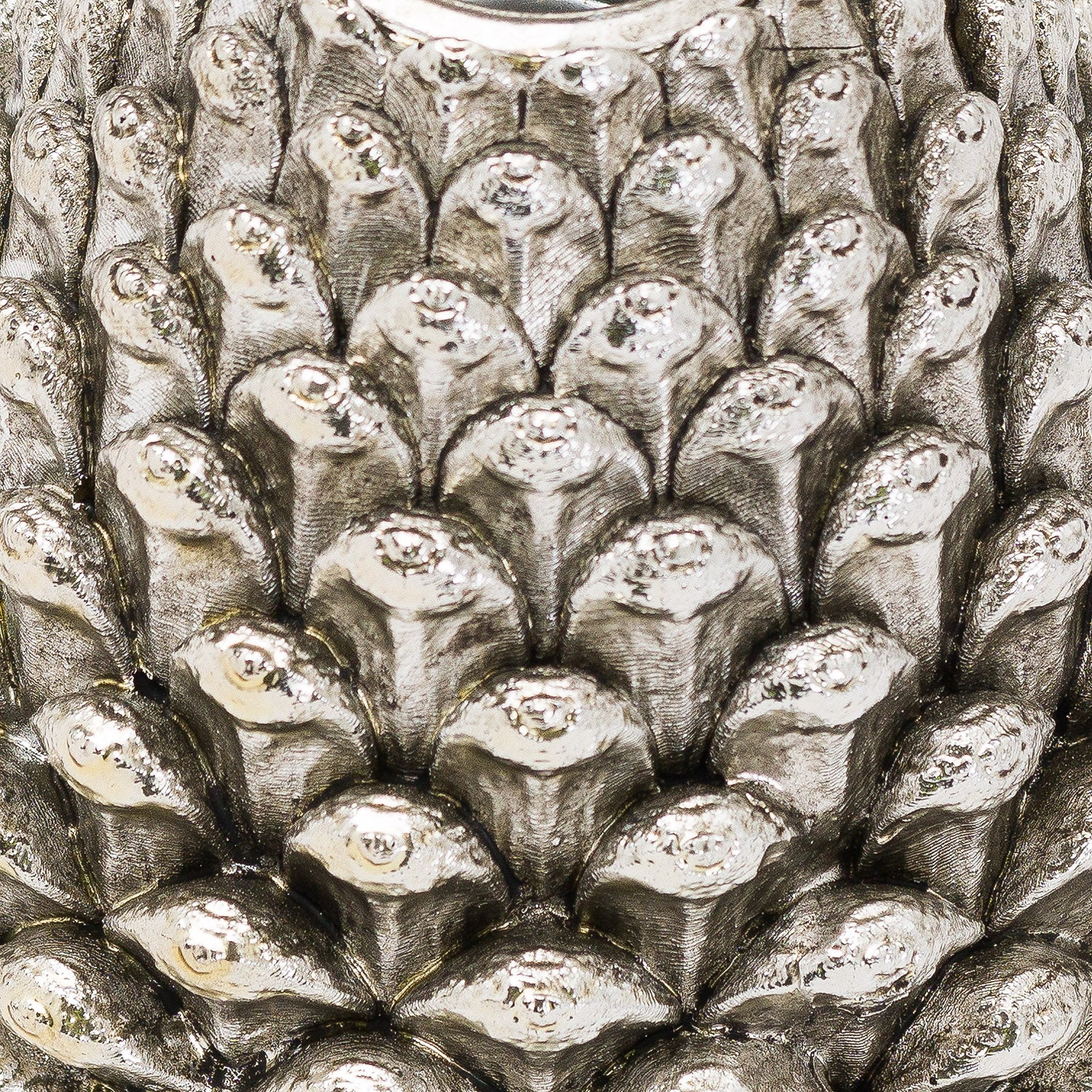 Medium Silver Pinecone Candle Holder - The Tulip Tree Chiddingstone