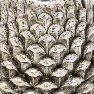 Large Silver Pinecone Candle Holder - The Tulip Tree Chiddingstone