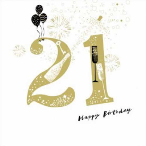 21 make merry Birthday Card