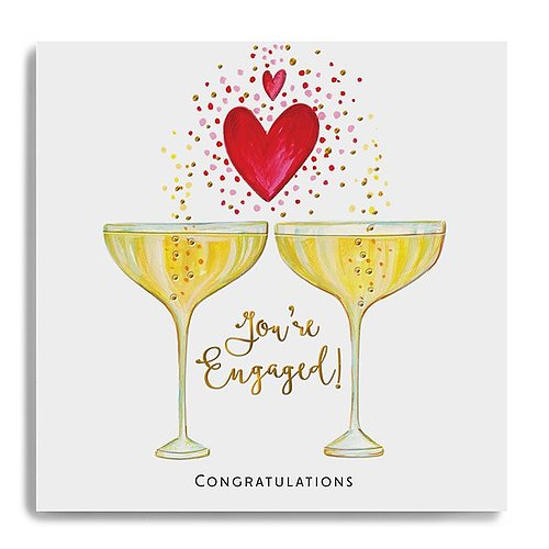 Congratulations You're Engaged - Champagne Glasses