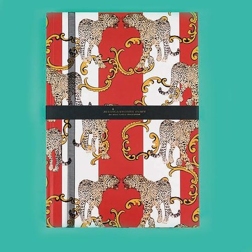 'Striped Leopard' A4 Half Lined Hardback Notepad