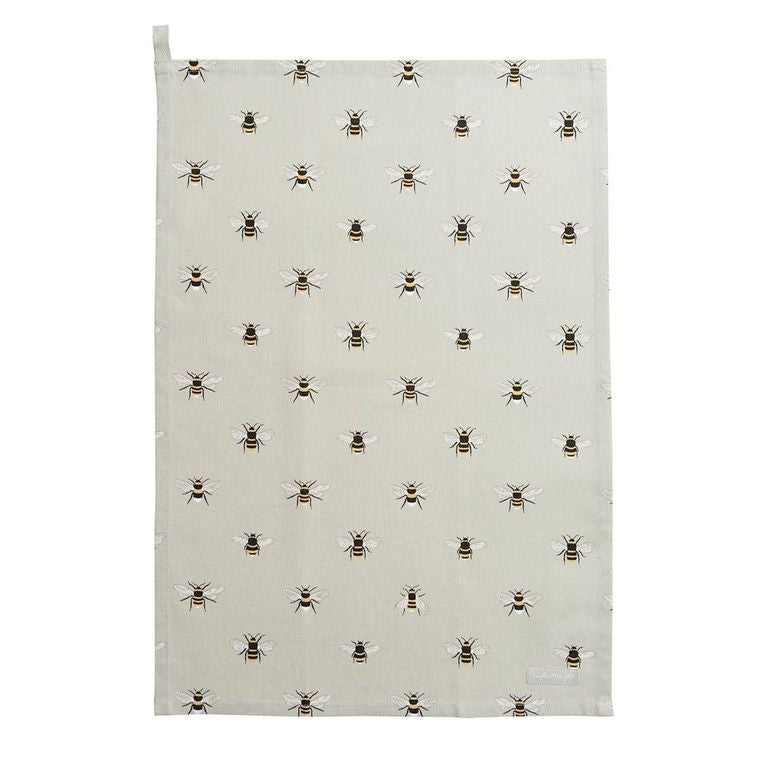 Bees Tea Towel - The Tulip Tree Chiddingstone