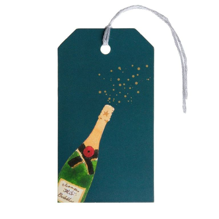 Bubbles & Fizz Gift Tags (Set of 8) - The Tulip Tree Chiddingstone